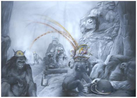 05 Gorillas im Nebela