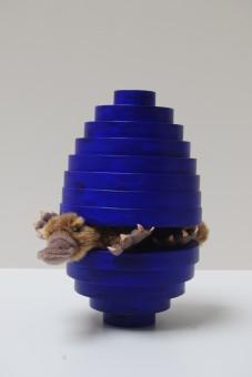 Blaue Eiform mit Schnabeltier